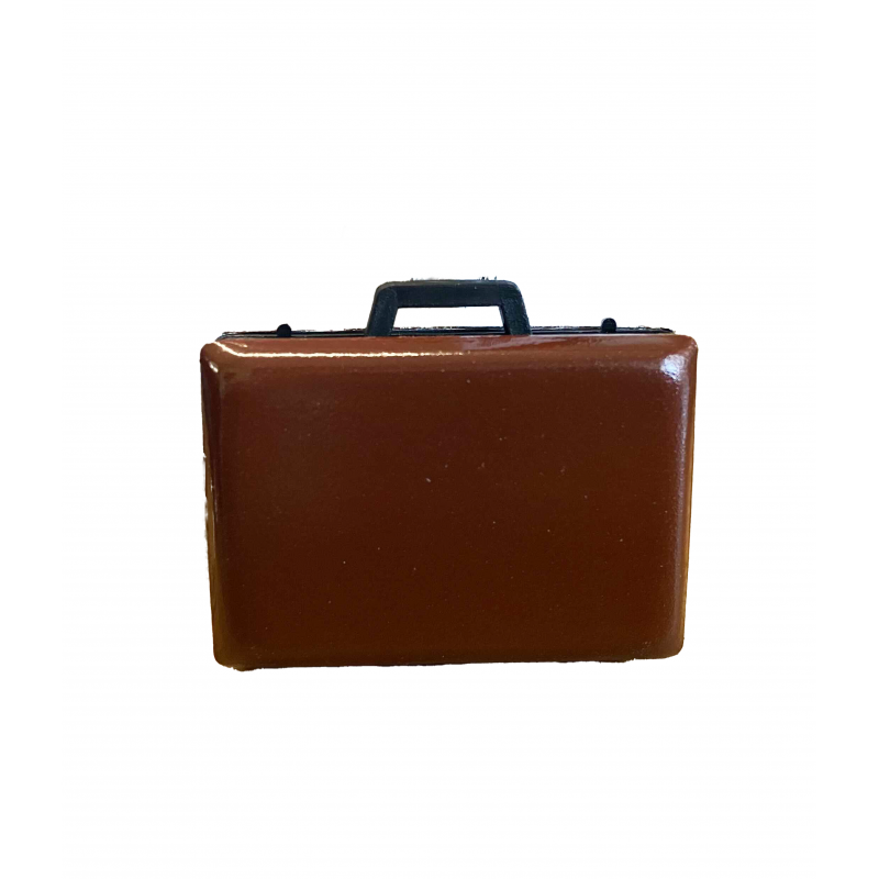 Dolls House Brown Briefcase Miniature Modern Office Study Work Accessory 1:12