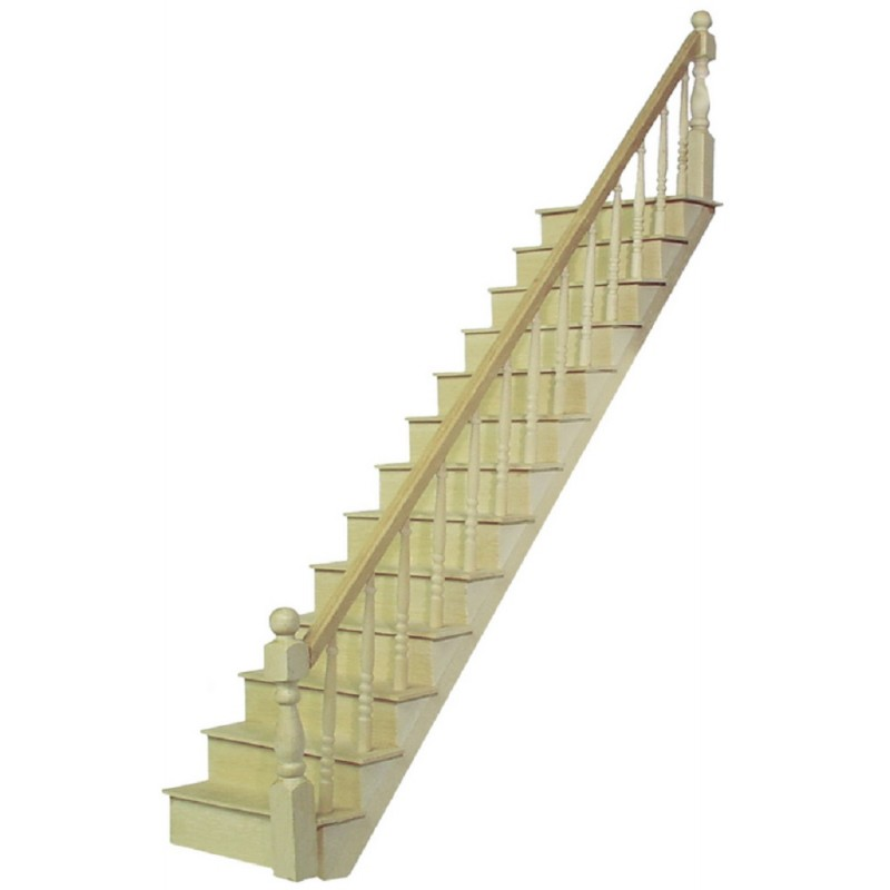Dolls House Miniature 1:24 Scale Classic Wooden Staircase Kit Stairs Bannister