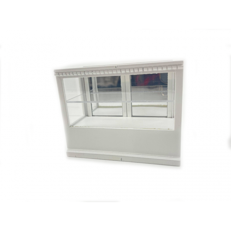 Dolls House White Wood Shop Fittings Display Case Store Counter 1:12 Furniture
