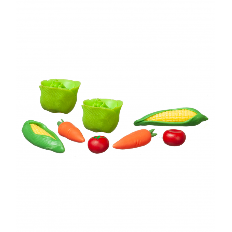 Dolls House Mixed Vegetables Miniature Kitchen Greengrocers Food Shop Accessory