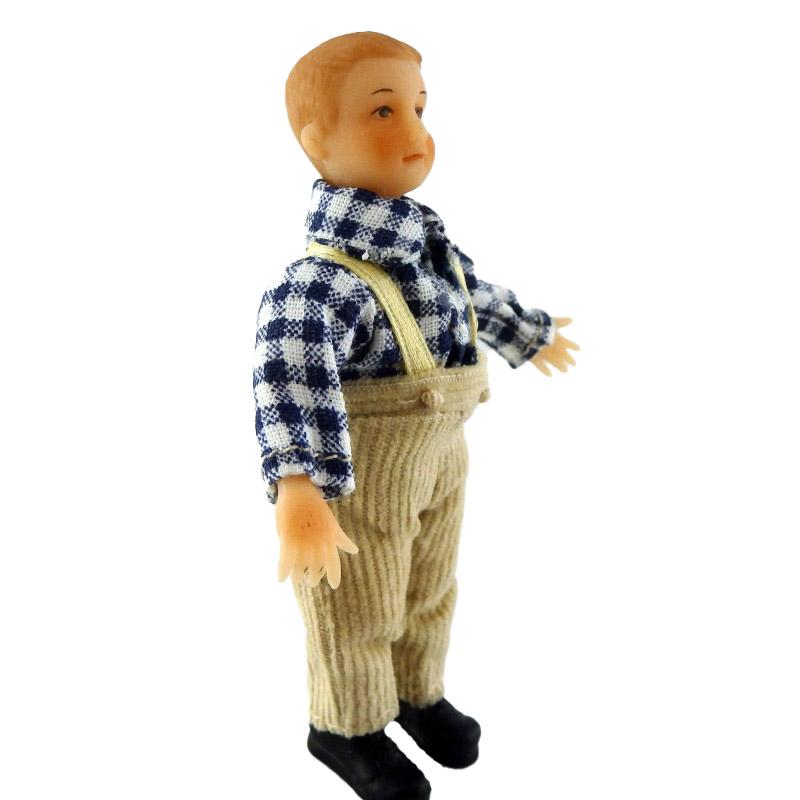 Dolls House Mini Victorian People Merry Meeting Boy Karl Peterson