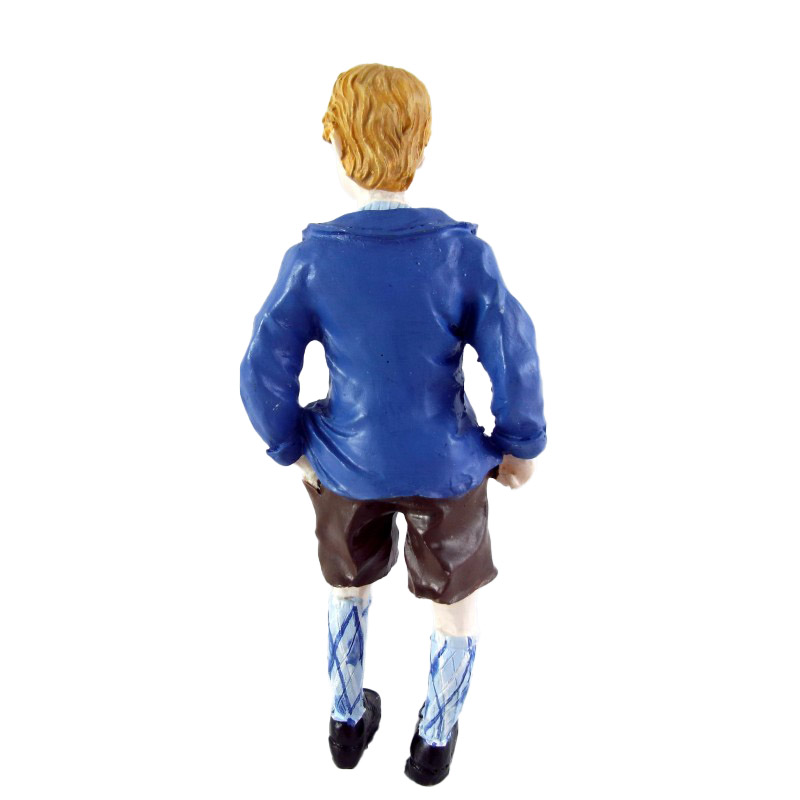 Dolls House Miniature 1:12 Scale Resin People 1950`s Boy in Short Pants & Jacket