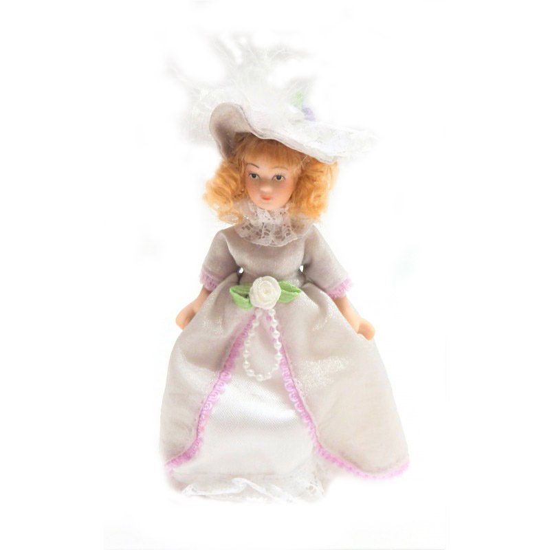 Dolls House Victorian Young Lady Girl Miniature People Porcelain LC