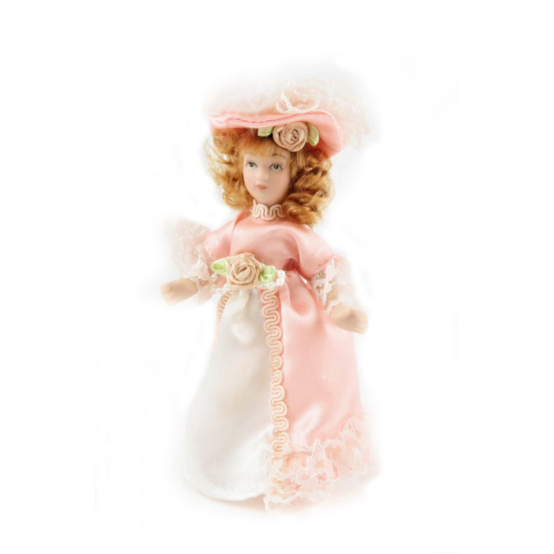 Dolls House Victorian Young Lady Girl Miniature People Porcelain PK