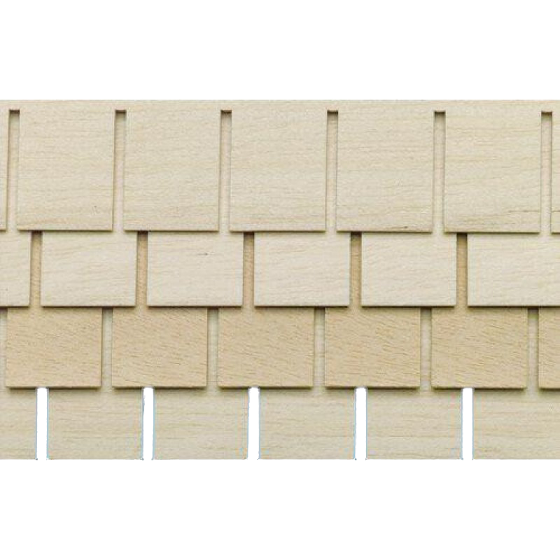 Dolls House Shingle Strips Roofing Tiles Pack of 4 Wooden 1:12 Scale