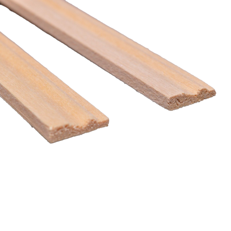 """Dolls House Bare Wood Skirting Board 17.3/4 X 1/2"""" Coving 450mm X 12mm Pack of 5"""