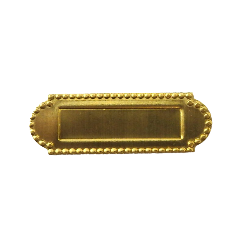Dolls House Brass Mail Letter Box Miniature Fittings Door Furniture