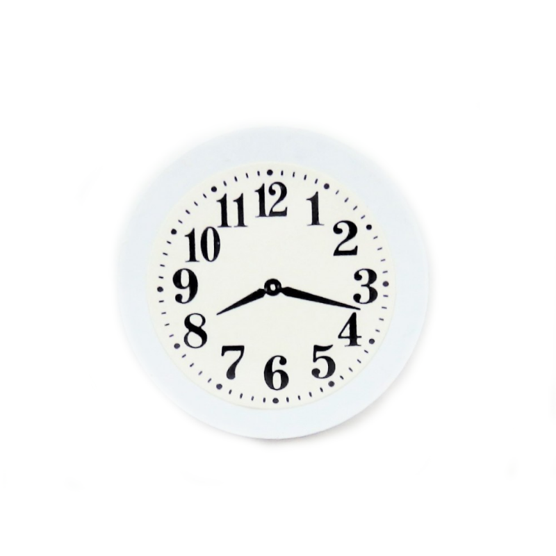 Dolls House White Kitchen Wall Clock 1:12 Scale Miniature Accessory