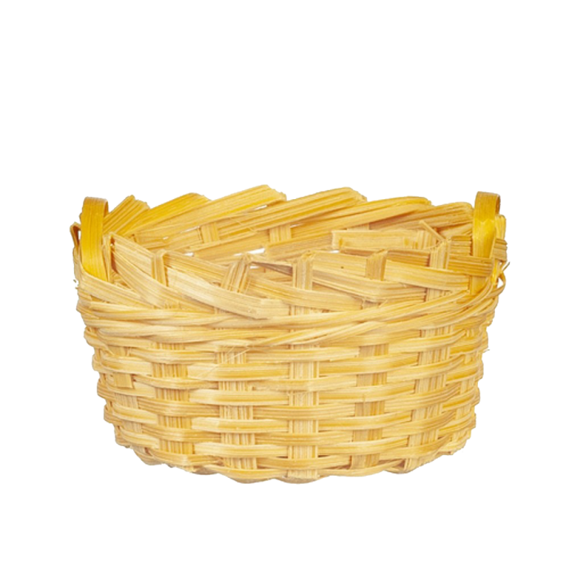 Dolls House Oval Wicker Woven Basket with 2 Handles 1:12 Shop Garden Accessory