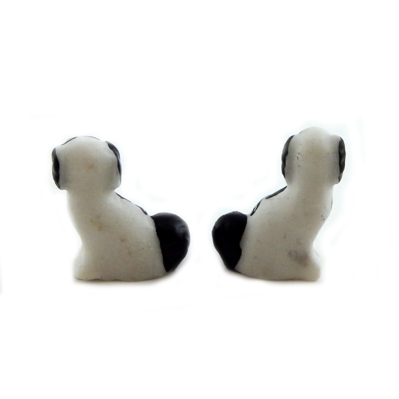 Dolls House Pair Staffordshire Dogs Miniature Fireplace Ornament 1:12 Accessory