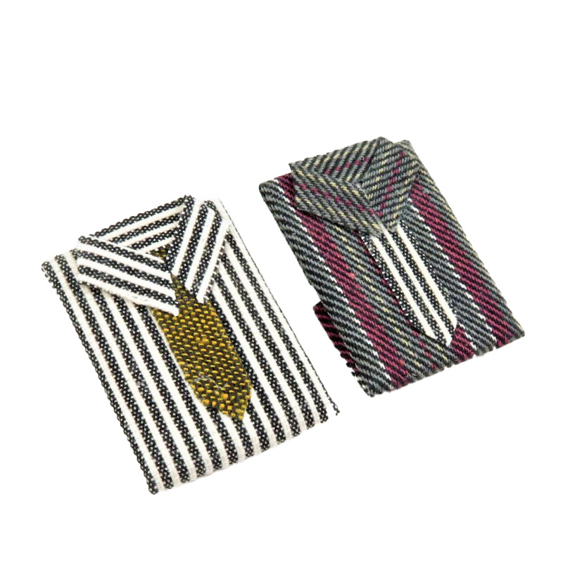 Dolls House 2 Folded Men's Shirts with Tie 1:12 Bedroom Shop Store Accessory