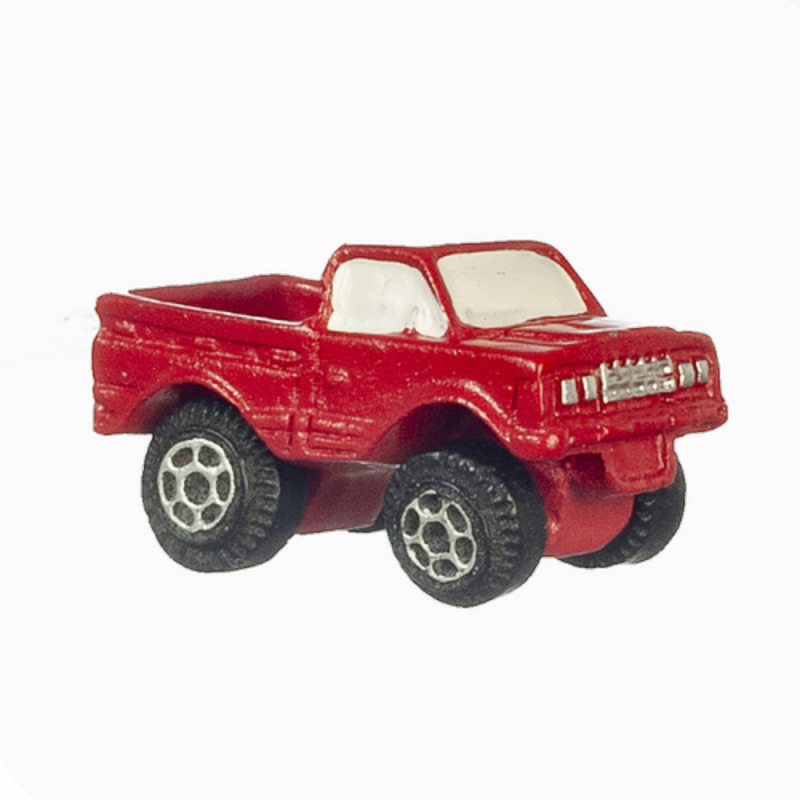 Dolls House Red Pick Up Truck Modern Toy Store Shop Nursery Accessory