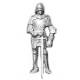 Dolls House Knight in Medeival Armour Kit Miniature 1:12 Accessory