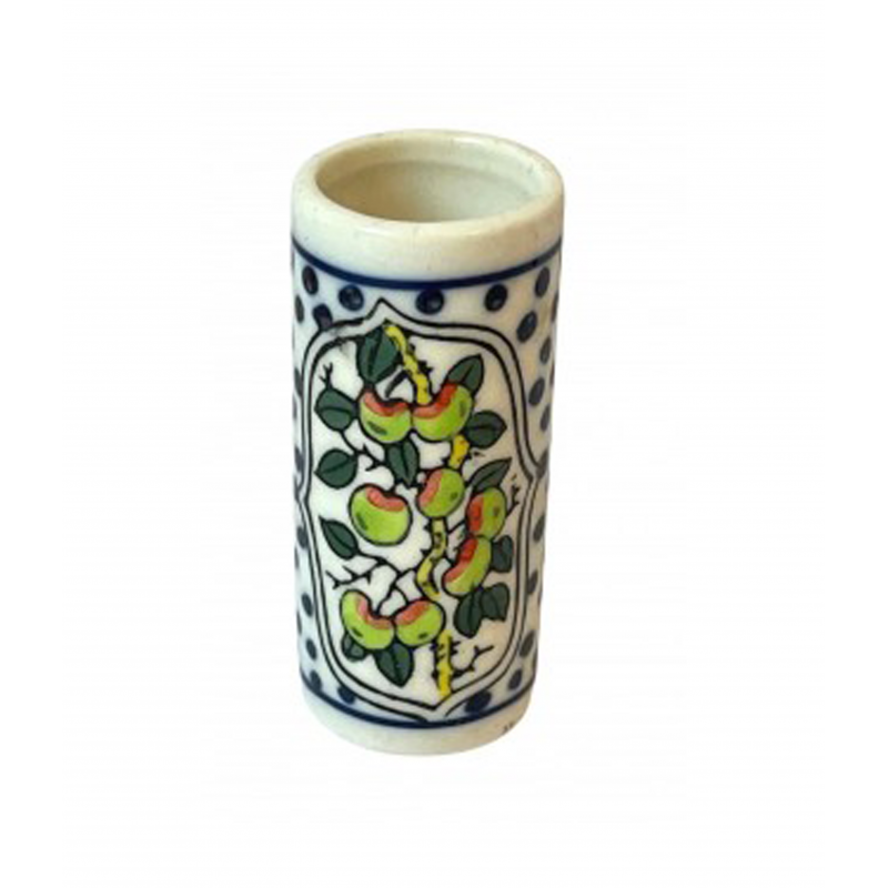 Dolls House Patterned Painted Porcelain Umbrella Stand Hall Accessory 1:12 Scale