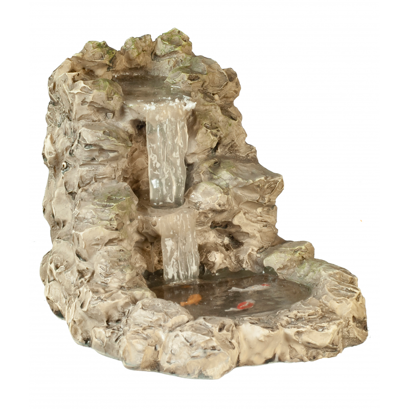 Dolls House Grey Waterfall with Pond Miniature Garden Accessory 1:12 Scale