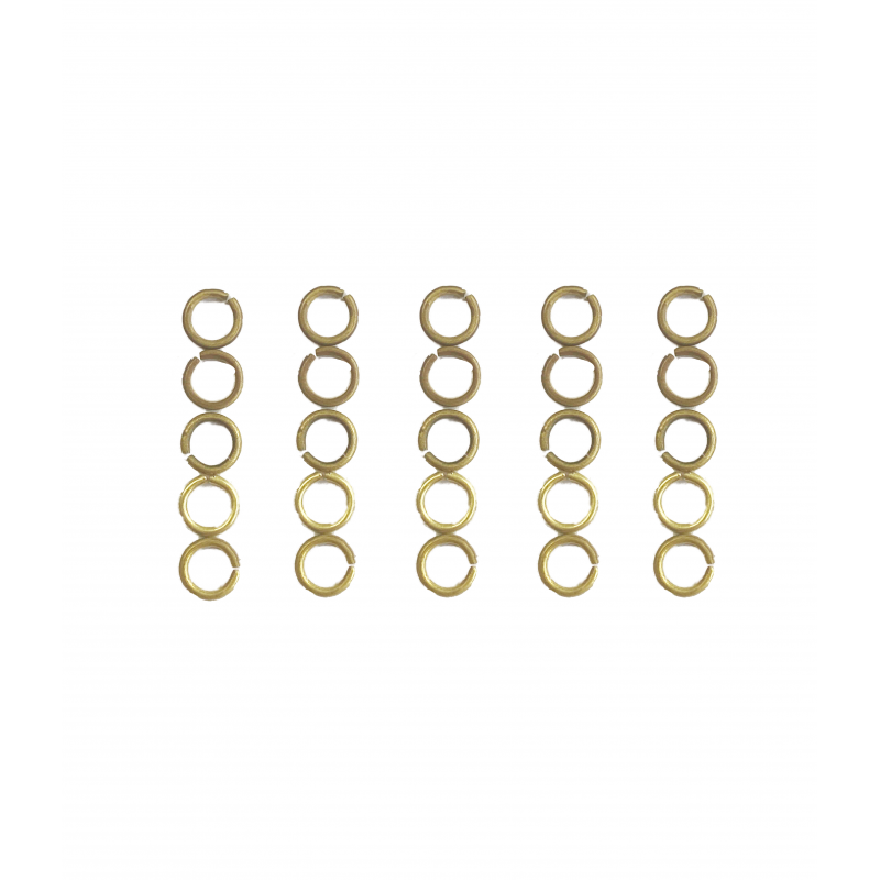 25 Brass Curtain Rings for Dolls House Curtain Rods Miniature Window Accessory
