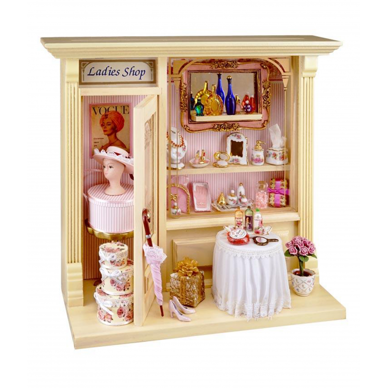 Dolls House Ladies Shop with Accessories Reutter Miniature Ready Built Display