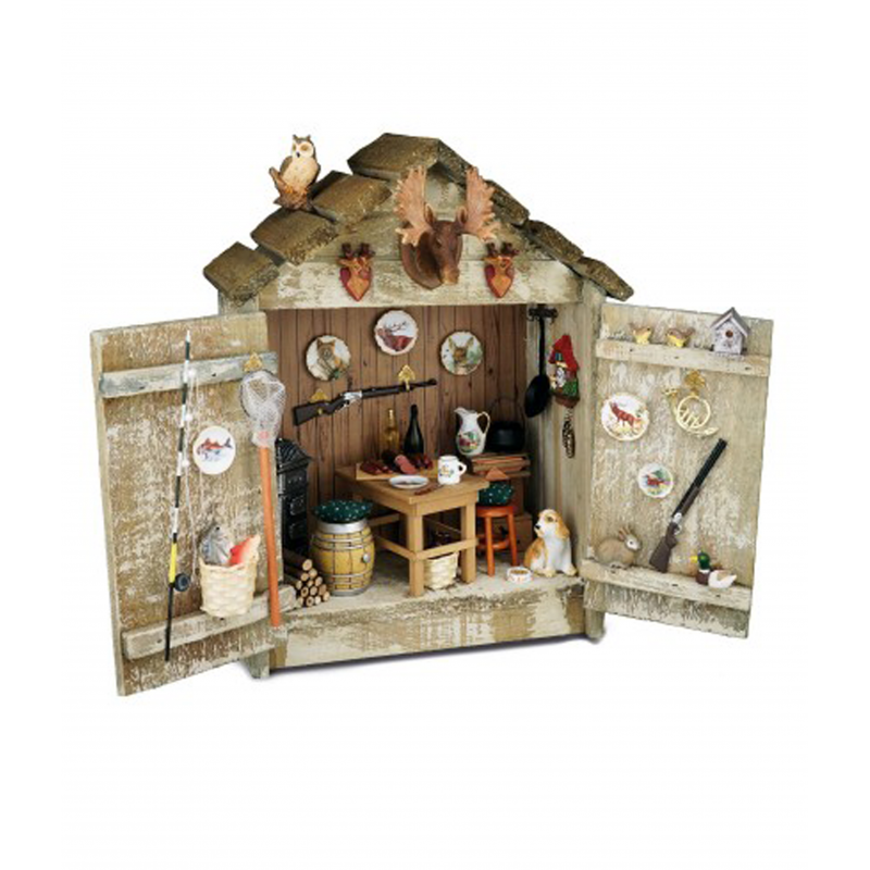 Dolls House Hunting Lodge & Accessories Reutter Miniature Ready Built Display