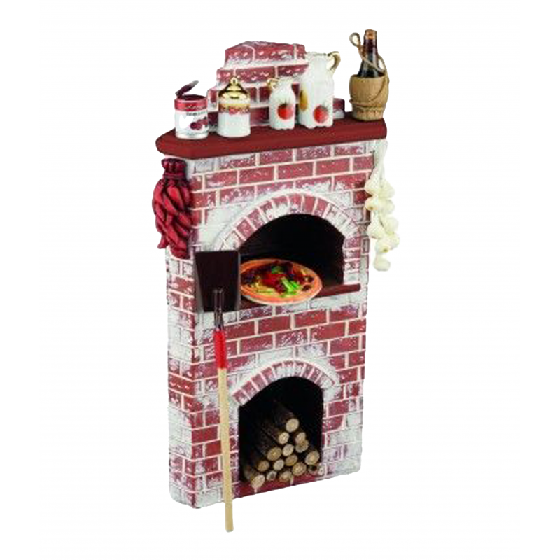 Dolls House Pizza Oven with Accessories Reutter Miniature Kitchen Furniture 1:12