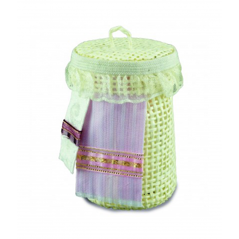 Dolls House Laundry Basket with Towels Reutter Bedroom Bathroom Accessory 1:12