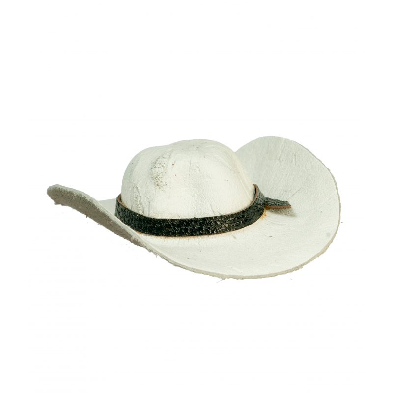 Dolls House White Cowboy Hat Stetson Miniature Hall Ranch Accessory 1:12 Scale