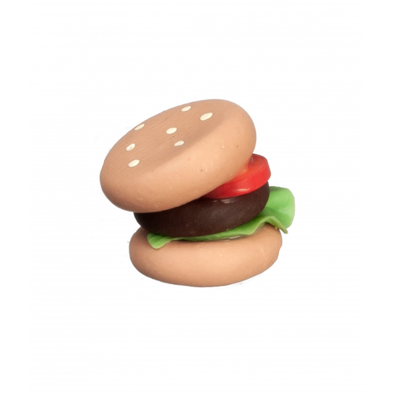 Dolls House Ham Beef Burger Fast Food Take Away Miniature Cafe Accessory 1:12